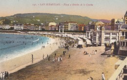 CPA - San Sebastian - Playa Y Hotel De La Concha - Guipúzcoa (San Sebastián)