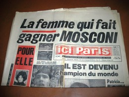 ICI PARIS MOSCONI NATATION JOHNNY SUICIDE PRINCESSE MARGARET N° 1150 De 1967 - People
