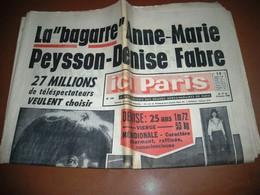 ICI PARIS PEYSON Denise FABRE GELIN ADAMO GEORGE VI Angleterre.. N° 1181 De 1966 - People