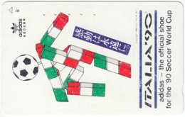 JAPAN H-669 Magnetic NTT [110-015] - Event, Sport, World Cup, Soccer - Used - Japan