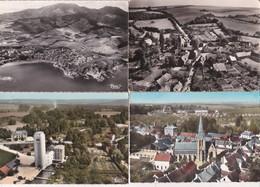 12 Cartes--vues Aeriennes De France Noires Et Colorisées - Postcards