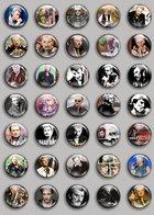 Johnny Hallyday Music Fan ART BADGE BUTTON PIN SET (1inch/25mm Diameter) 35 DIFF 7 - Music