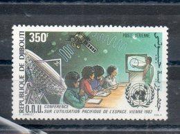 Djibouti. Poste Aérienne. Conférence Sur L'utilisation Pacifique De L'espace. Vienne. 1982 - Djibouti (1977-...)
