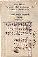 VP12.427 - Facture - Etoffes & Tapis  Manufactures De Picardie, Bohain, Beauvais & Paris L.DUPONT Et HERVE à PARIS - France
