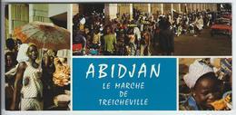ABIDJAN (Côte D'Ivoire) - Le Marché De TRICHEVILLE   -   (carte Format 21 X 10 Cm) - Côte-d'Ivoire