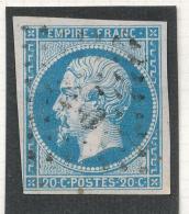 N°14 NUANCE ET OBLITZRATION 1er CHOIX. - 1853-1860 Napoléon III.