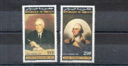 Djibouti. Poste Aérienne. Roosevelt Et Washington - Djibouti (1977-...)