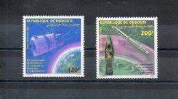 Djibouti. Poste Aérienne. Vostock VI Et Explorer - Djibouti (1977-...)