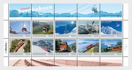Liechtenstein  2018 Bergspoorwegen Trein   Mountain Railways Trains    Sheetlet    Postfris/mnh - Liechtenstein