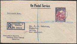 BERMUDA - NEW ZEALAND REGISTERED 1945 COVER - Bermuda