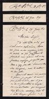 VP12.432 - 4 Lettres De Mr CAILLAUX ? - Manuscripts