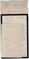 VP12.433 - 4 Lettres De Mr ? à BAYONNE - Manuscripts