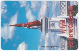 TURKEY B-118 Magnetic Telekom - Flag Of Turkey - Used - Turkey