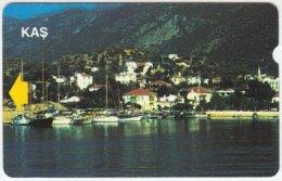 TURKEY B-132 Magnetic Telekom - View, Village - Used - Turkey