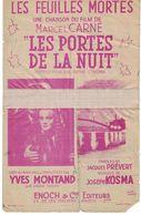 PARTITION LES FEUILLES MORTES PAROLES DE JACQUES PREVERT MUSIQUE DE JOSEPH KOSMA ENOCH & Cie EDITEURS - Non Classés