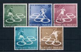 Togo 1964 Olympia Mi.Nr. 435/39 Kpl. Satz Gest. - Togo (1960-...)