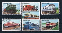 Burkina Faso 1985 Eisenbahn Mi.Nr. 1043/49 Kpl. Satz Gest. - Burkina Faso (1984-...)