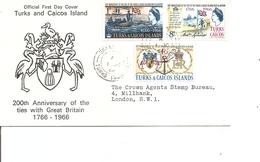 Turks Et Caiques - 200 Ans De Présence Anglaise ( FDC De 1966 à Voir) - Turks And Caicos