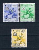 Sudan 1961 Olympia Mi.Nr. 172/74 Kpl. Satz ** - Sudan (1954-...)