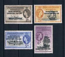 Falklandinseln 1956 Schiffe Mi.Nr. 34-37 ** - Falkland Islands