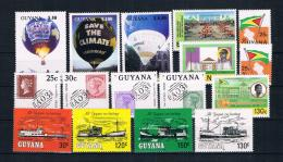 Guyana Kleines Lot 16 Werte ** - Guyana (1966-...)