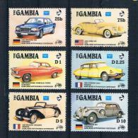 Gambia 1986 Autos Mi.Nr. 626-28/631-33 ** - Gambia (1965-...)
