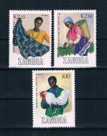 Zambia 1988 Mi.Nr. 453-55 ** - Zambia (1965-...)