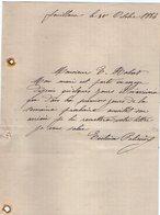 VP12.435 -  Lettre De Mr PALISSIER à FOUILLOUX - Manuscripts