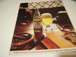 ANCIENNE AFFICHE PUBLICITE  BIERE 1664 KRONENBOURG 1979 - Alcohols