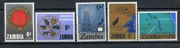 1967 - ZAMBIA  -  Mi. Nr. 34/38 - NH - (CW4755.22) - Zambia (1965-...)