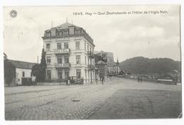 Huy Hôtel De L'Aigle Noir Carte Postale Ancienne 1911 - Hoei