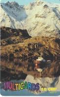 TARJETA DE SUIZA DE MULTICARDS DE UN PAISAJE (MONTAÑA-MOUNTAIN) TIRADA 10000 - Switzerland