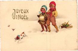 JOYEUX NOEL ENFANTS ET CHIEN DANS LA NEIGE REF 56457 - Christmas