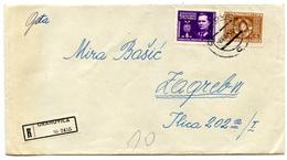 Yugoslavia, Letter Cover Registered Travelled 1948 Orahovica Pmk B180612 - 1945-1992 Sozialistische Föderative Republik Jugoslawien