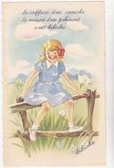 Illustrateur  Bibiche  Ed  MD  N°575 - Enfant Chien Coiffure Caniche Minois Pekinois  - CPSM  9X14 état Luxe Neuve - Cartes Humoristiques