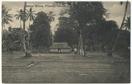 Toga Tonga Native House In Friendly Island P. Used Stamped From Nukualofa 1935 - Tonga