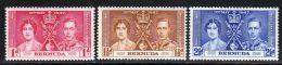 Bermudes 1937 Yvert 101 / 103 ** TB - Bermuda