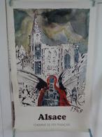 AFFICHE: ALSACE  , Chemins De Fer Français  ,H98,8 L 62 - Affiches