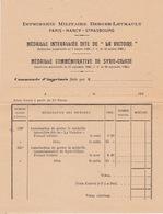 Bon De Commande Imprimés Berger-Levrault, Médailles La Victoire Et Syrie-Cilicie, Années 1920 - Francia