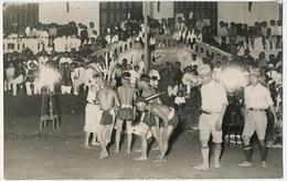 2 Real Photo Na Cham 1932 Scouts Fete Lutte - Viêt-Nam