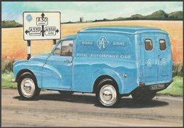 Royal Automobile Club Morris Minor - Golden Era Postcard - Passenger Cars