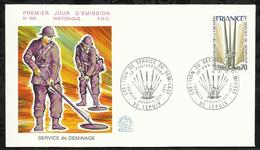 CREATION DU SERVICE DU DEMINAGE . 11 OCTOBRE 1975 . LEPUIX . - 1970-1979