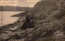 35 - ROTHENEUF - L'Ermite Sculptant Les Rochers - Rotheneuf