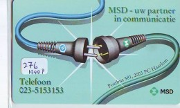 NEDERLAND CHIP TELEFOONKAART CRE 276 1994 * MSD - Uw Partner In Communica  * Telecarte A PUCE PAYS-BAS * ONGEBRUIKT MINT - Netherlands
