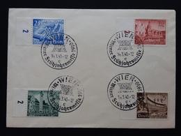 GERMANIA III REICH - Serie Fiera Di Lipsia Su Busta - Con Annullo Vienna + Spese Postali - Germania