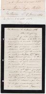 VP12.437 - 5 Lettres De Mrs DANDONNEAU & Emile ? à LA BOIRIE OLERON - Manuscripts