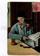3025459 SMOKING German Peasant Vintage POSTAL USED 1913 Year PC - Ethnics