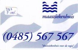 NEDERLAND CHIP TELEFOONKAART CRE 283 1995 * Maasziekenhuis  * Telecarte A PUCE PAYS-BAS * ONGEBRUIKT MINT - Netherlands