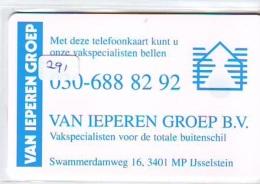 NEDERLAND CHIP TELEFOONKAART CRE 291 * HYPOTHEEK  *  Telecarte A PUCE PAYS-BAS * ONGEBRUIKT MINT - Netherlands