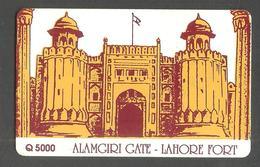 PAKISTAN  USED CHIP PHONECARD TELECARD 30 UNITS LAHORE FORT - Pakistan